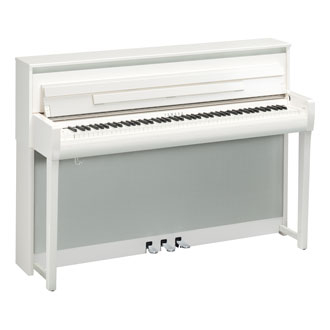 yamaha clp-685 in polished white