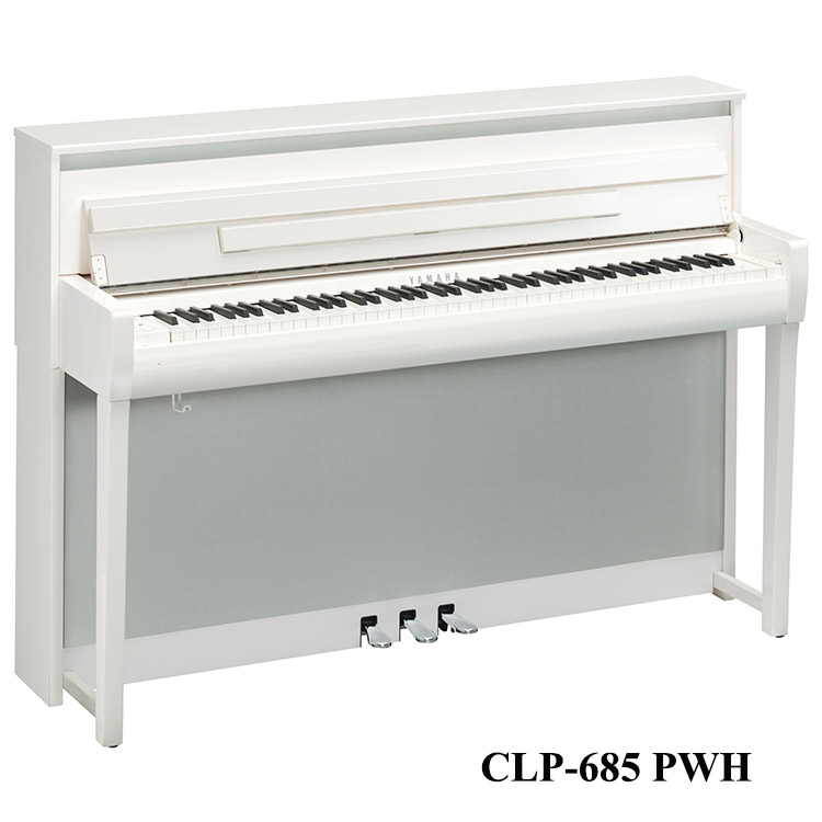 Yamaha CLP-685 Polished white, CLP-685PW