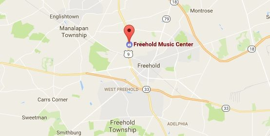 Freehold Pianos Map
