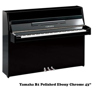 yamaha b1 polished ebony 43 inch upright piano