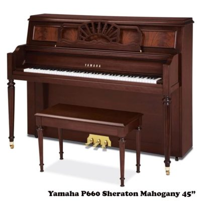 "Yamaha P660 Sheraton 45"" upright piano"