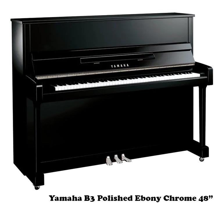"Yamaha b3 polished ebony chrome 48"" upright"