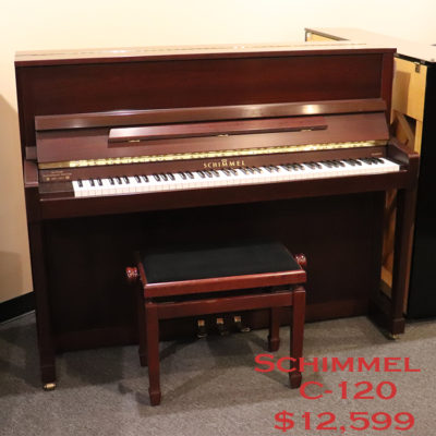 schimmel c120 used upright piano